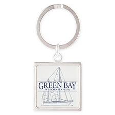 Green Bay - Square Keychain