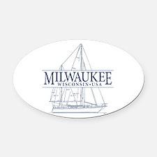Milwaukee - Oval Car Magnet