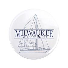 "Milwaukee - 3.5"" Button"
