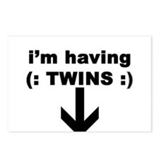 I'M HAVING TWINS Postcards (Package of 8)