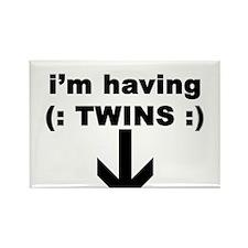 I'M HAVING TWINS Rectangle Magnet