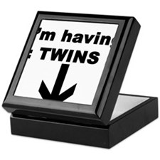 I'M HAVING TWINS Keepsake Box