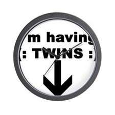I'M HAVING TWINS Wall Clock