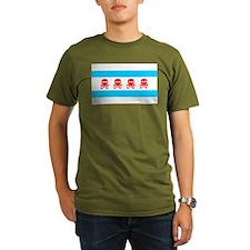 chicago-flag-skulls 1900x1170.png T-Shirt