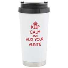 Keep Calm and HUG your Auntie Travel Mug