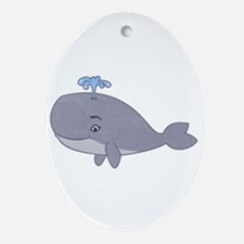 Cute Whale Ornament (Oval)