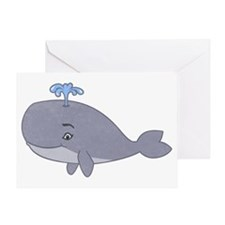 Cute Whale Greeting Cards