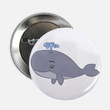 "Cute Whale 2.25"" Button"