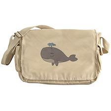 Cute Whale Messenger Bag