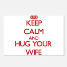 Keep Calm and HUG your Wife Postcards (Package of