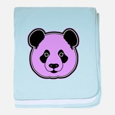 panda head plum baby blanket