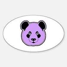 panda head plum Sticker (Oval)