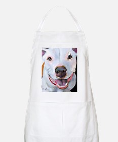 Charlie The Pitbull Dog Portrait Apron