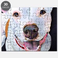 Charlie The Pitbull Dog Portrait Puzzle