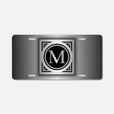 Deco Monogram M Aluminum License Plate