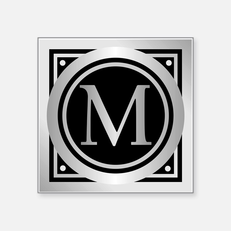 Deco Monogram M Sticker