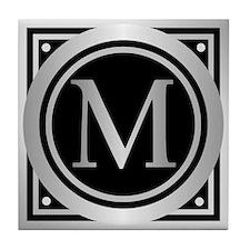 Deco Monogram M Tile Coaster