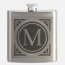 Deco Monogram M Flask