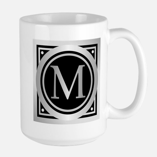 Deco Monogram M Mugs