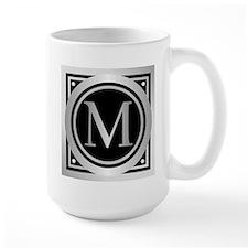 Deco Monogram M Mugs