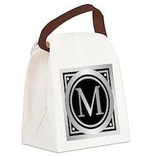 Deco Monogram M Canvas Lunch Bag