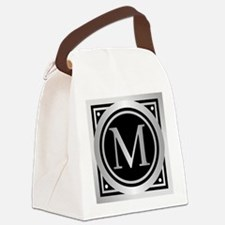 Deco Monogram M Canvas Lunch Bag