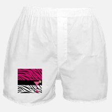 Pink Black Zebra Stripes Cocktail Boxer Shorts