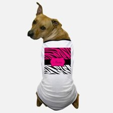 Pink Black Zebra Personalized Dog T-Shirt