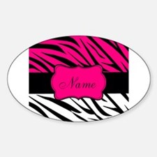 Pink Black Zebra Personalized Decal