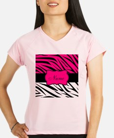 Pink Black Zebra Personalized Performance Dry T-Sh