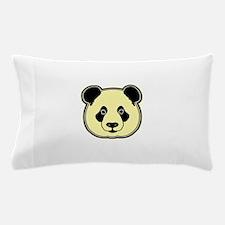 panda head lemon Pillow Case