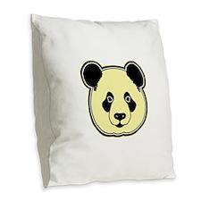 panda head lemon Burlap Throw Pillow