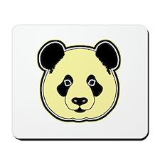 panda head lemon Mousepad