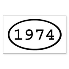 1974 Oval Rectangle Decal