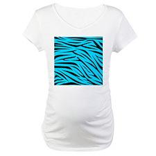 Teal and Black Zebra Stripes Shirt