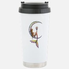 Mermaid Moon Fantasy Art Travel Mug