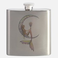 Mermaid Moon Fantasy Art Flask