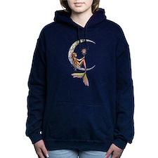 Mermaid Moon Fantasy Art Women's Hooded Sweatshirt