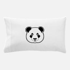 panda head white black Pillow Case