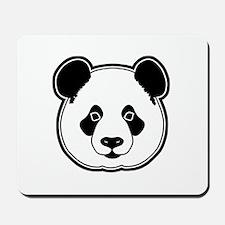 panda head white black Mousepad