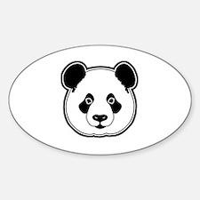 panda head white black Decal