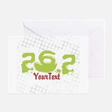 CUSTOMIZE Festive 26.2 Marathon Greeting Cards