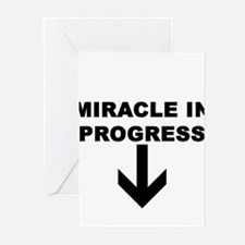 MIRACLE IN PROGRESS Greeting Cards (Pk of 10)