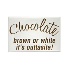 Chocolate Is Outtasite Rectangle Magnet