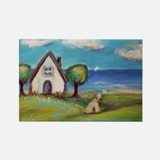 Soft Coated Wheaten Terrier Summer Cottage Magnets
