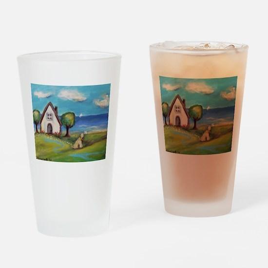Soft Coated Wheaten Terrier Summer Cottage Drinkin