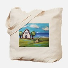 Soft Coated Wheaten Terrier Summer Cottage Tote Ba