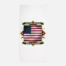20th Maine (Diamond).png Beach Towel