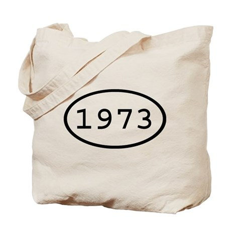 1973 Oval Tote Bag