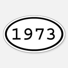 1973 Oval Oval Decal